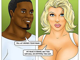See how the cock disappears on interracial porn comics between my big white titties