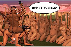 Crazy sex rituals of wild naked aborigines in best porn comics