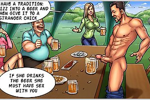 Shocking cartoon porn game with horny kinky dudes sharing huge hard cocks