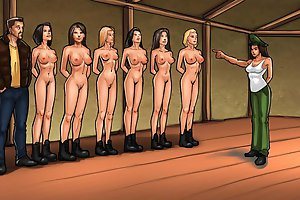 Hot girls trained at military camp in mind blowing cartoon xxx games