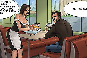 Exciting cartoon porn comics with mature waitress fucked hard and wild
