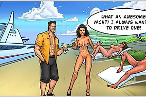 Busty bitch wants to try yacht with hard fuck in porn cartoons