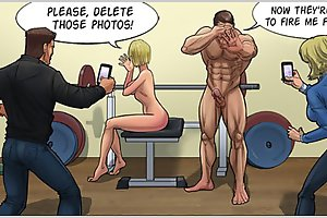 Please, delete those fitness cartoon porn photos! Now they are going to fire me for sure