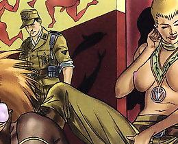 Two hot sluts suck one dick erotic comics