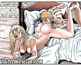 Horny prince lick Little Red Riding Hood pussy cartoon porn