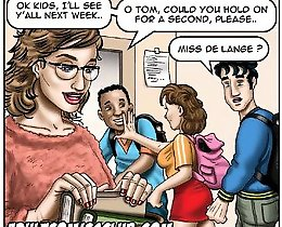 Miss De Lange wants to fuck her student on this erotic comics