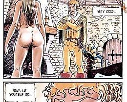 Little Red Riding Hood suck prince small pecker cartoon sex