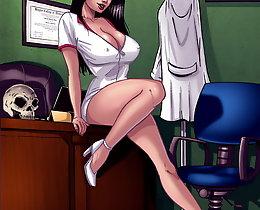 Black & white interracial comic gallery. Nurse Brittani and nurse Tamika ready to treat big black cocks