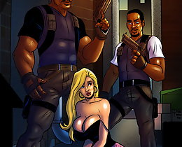 Porn comics that have interracial group of 3 - close the fuck up and then suck this ebony prick
