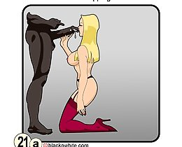 Interracial black cock worship comics