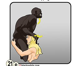Black cock worship guide interracial comix