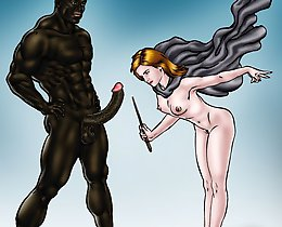 Cuckold comic. Emma Watson analyses a major african american miracles wand. Your woman is wanting it