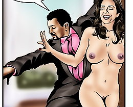 Interacial cartoon sex. Cheating wife with the cheated hubby
