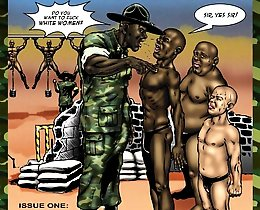 Black cocks in army military interracial comics