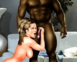 Big black cock cumloads interracial comics