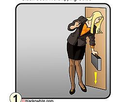 Black cock worship - how to prepare pussy for blackfucking interracial erotic comics