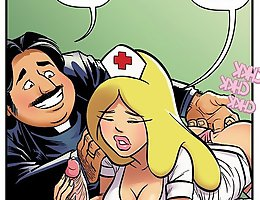 Jab comics show slutty nurses being fucked all over the place