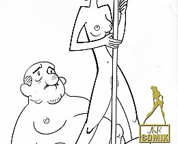 Sexy cartoon sketches of boosty girls and Erin Esurance by JKR comix