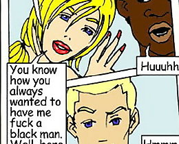 John Persons cuckold comics. White couple and black assfucker