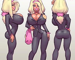 Big cartoon tits of dirty girls that love to have hot toon sex