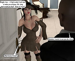 White young girl's dreams realized on this 3d sex comics