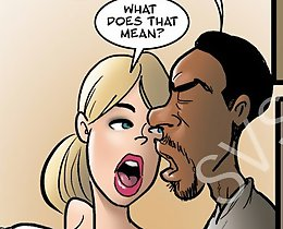 Naughty slut taking dirty facial from big black cock! Watch best interracial John Person sex comic session