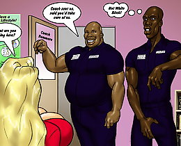 Two black cocks for Kitty Summers cartoon comic xxx porn