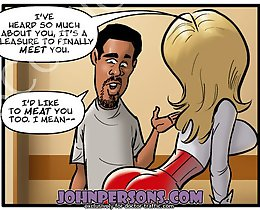 Amazing John Person free comics with nice blonde slut hunting big black cock in the office her pussy and ass