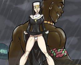 John Person interracial comics expose sexy nuns