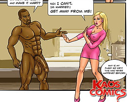 Booty blond girl present in cuckold cartoons is a real fucking provoke for this horny wild dark-colored male!