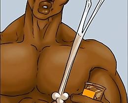 White hottie fucked very hard in hardcore black attack in xxx comics