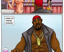 Huge cartoon tits drive mad brutal black gangsters for hardcore sex