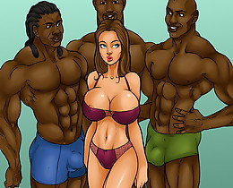 Hot candy sex comix girl is showed to several brutal african american porn stars hungry for hard sex!