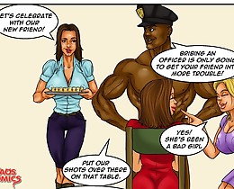 Black cops fuck nice white sluts till jizzing in mad interracial xxx comics