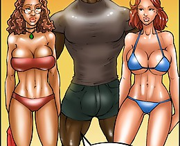 Hairy muff of a nasty toon is banged through the thongs in xxx black cartoons