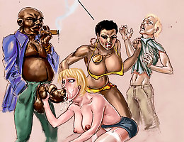 Anal and group interracial cartoons by Kinky Jimmy