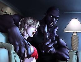 Big black guy want to fuck ho in the mouth interracial cartoon porn