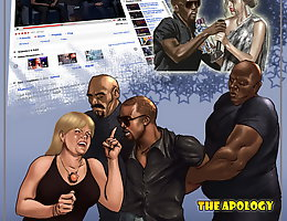 The Apology. The interracial cartoon intimacy parody glaring Kanye West together with Taylor Swift