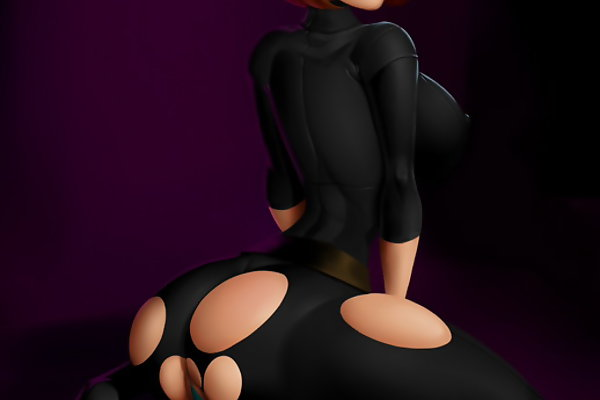 Kim Possible naked mum presenting us all her tight rounded bumm and big toon titties